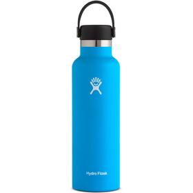 Hydro Flask Standard Mouth Stainless Steel Flaske med Standard Flex Cap 621ml, blå